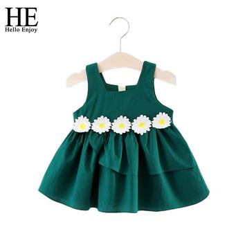 Toddler Girl Dress Summer Baby Girls Dresses Sleeveless Flowers Cotton Dresses For Party And Wedding dresses