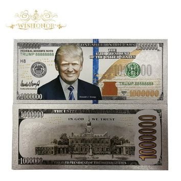New Products For 10pcs/lot America Banknotes Trump Banknote 1 Million Dollars Gold Banknote as Bill Currency Gifts Free Shipping