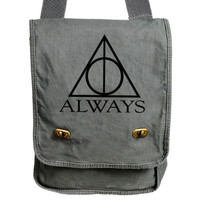 Always Harry Potter Gray Messenger Bag