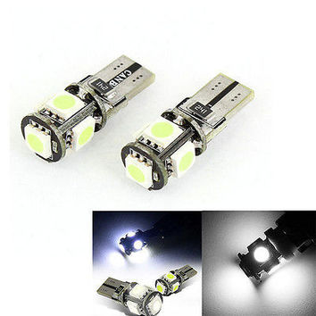 Fad 2x Canbus T10 194 168 W5W 5050 5 LED SMD Car Side Wedge Light Lamp Bulb New