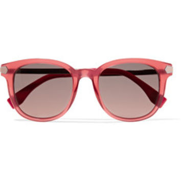 Fendi D-frame acetate and metal sunglasses – 50% at THE OUTNET.COM