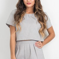 SEEING DOUBLE TWO PIECE SET IN GREY MARLE