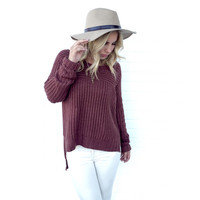 Bradford Knit Sweater In Brick