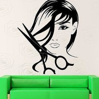 Wall Sticker Vinyl Decal Hair Beauty Salon Girl Teen Barbershop Decor Unique Gift (z2223)