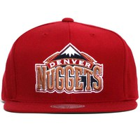 Denver Nuggets Wool Solid Snapback Hat Dark Red