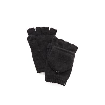 Plush Fleece Lined Fingerless Texting Mittens Black