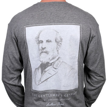 Gentelemen's General Long Sleeve Tee in Grey by Southern Proper