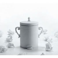 Rock and Roll Trash Can in White - French Bedroom Company