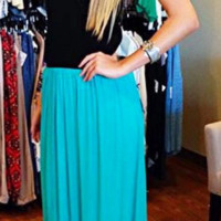 Crepe Maxi Skirt By Matty M