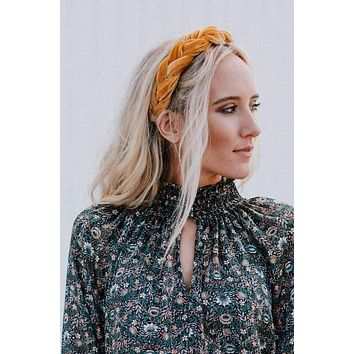 Mollie Twist Headband - Mustard