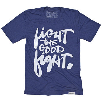 Fight the Good Fight Navy T-Shirt