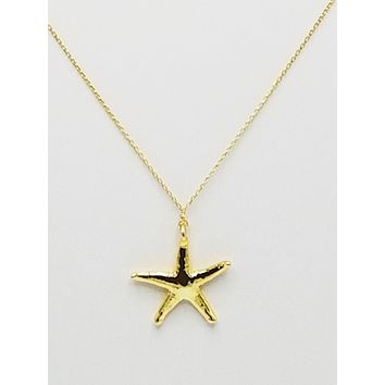 Real Starfish Necklace 925 Sterling Silver