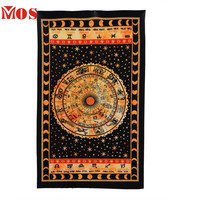 AG 2  Mosunx Business 2016 Hot Selling  Black Zodiac Horoscope Tapestry Astrology Wall Hanging Ethnic Decorative Art