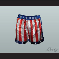 Sylvester Stallone Rocky Balboa American Flag Boxing Shorts All Sizes