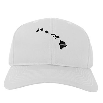 Hawaii - United States Shape Adult Baseball Cap Hat by TooLoud
