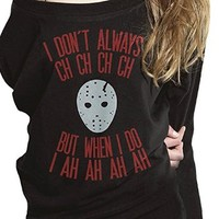 I Dont Always Ch. Halloween sweater Black