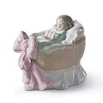 Lladro A New Treasure Light Skin Girl Figurine