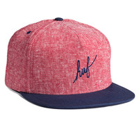 HUF - TWEED SCRIPT SNAPBACK // RED