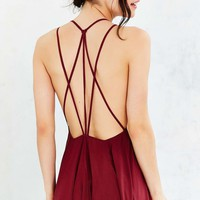 Ecote Lacey Cutout Maxi Dress - Urban Outfitters