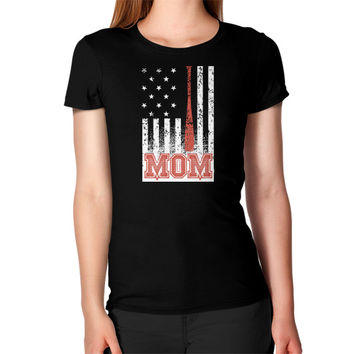 Usa baseball mom FLAG Women's T-Shirt
