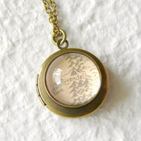 Map of Middle Earth From Lord of The Rings BRASS Locket - Choose your location