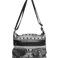 Elephant Print Crossbody Bag | Wet Seal
