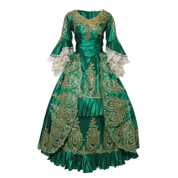 Victorian Renaissance Medieval Dress European Court Queen Costume
