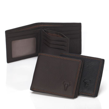 Leather Men Korean Silver Stylish Wallet [9026226243]