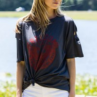 Freedom Graphic Tee in Charcoal