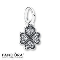 Pandora Dangle Charm Lucky in Love Sterling Silver
