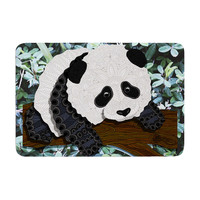 "Art Love Passion ""Panda"" Black White Memory Foam Bath Mat"