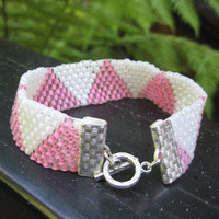 Precious Pink and White Beaded Bracelet