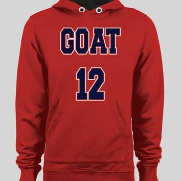 "NEW ENGLAND'S TOM BRADY ""THE GOAT 12"" HOODIE /SWEATER"