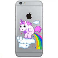 Unique naughty Unicorn Phone Case Cover for Apple iPhone 7 7 Plus 5S 5 SE 6 6S 6 Plus 6S Plus + Nice gift box! LJ161005-005