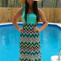 Pixelated Maxi Dress