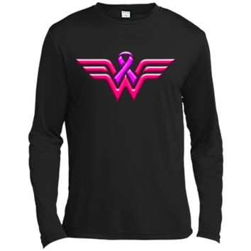 Breast Cancer Awareness T Shirt For Women Long Sleeve Moisture Absorbing Shirt