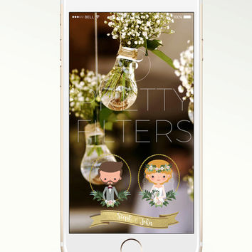 DIY Snapchat GeoFilter for Wedding | Personalised Portrait | We Customize for You | Ready in 48 hours | Perfect Gift