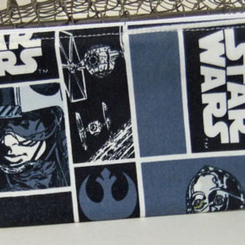 Zip Pouch-Pencil pouch- Cosmetics pouch- made by me using Star Wars liscenced fabric