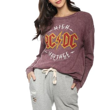 Junk Food ACDC High Voltage Pullover