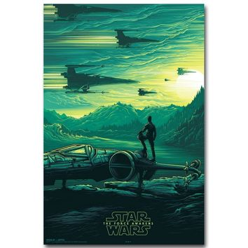 Star Wars Force Episode 1 2 3 4 5  7 The Force Awakens Art Silk Fabric Poster Print 13x20 24x36 inch Movie Kylo Ren Picture for Room Wall Decor 010 AT_72_6