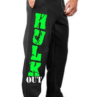 Monsta Clothing Hulk Out Sweatpants Bodybuilding Sweat Pants NEW Mens Workout