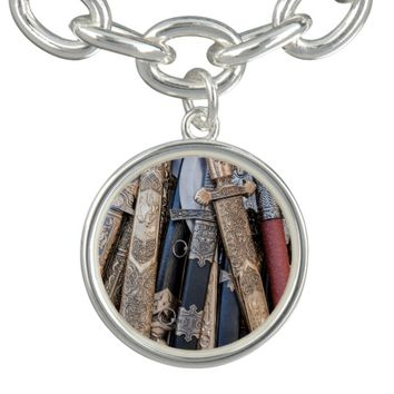 Cold steel arms charm bracelet