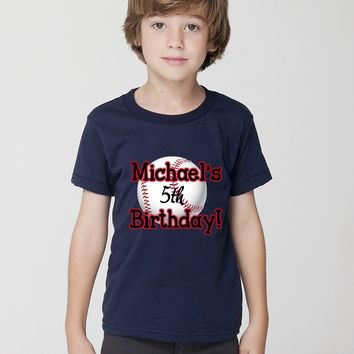 """Baseball Birthday"" Tee For Little Kids"