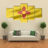 Flag Of New Mexico Multi Panel Canvas Wall Art