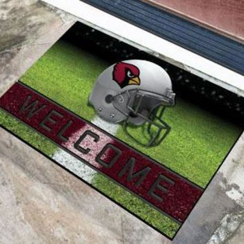 Arizona Cardinals Door Mat 18x30 Welcome Crumb Rubber