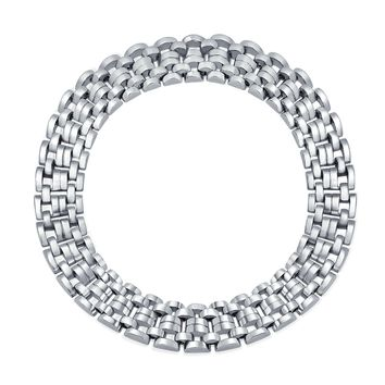 Wide Panther Link Chain Collar Statement Necklace Solid Silver Plated