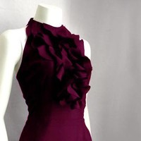 Raw Edge Ruffle Silk Gown Custom only by prizysebastian on Etsy