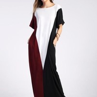 Colorblock Maxi fashion dress