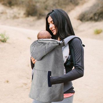 Toddler Backpack class Baby Carrier Cover Infant Toddlers Plus Velvet Coat for Sling Wrap Baby Carrier Backpack Hooded Cloak for Baby Suspenders AT_50_3