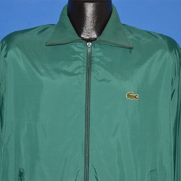 80s Izod Lacoste Green Windbreaker Jacket Large